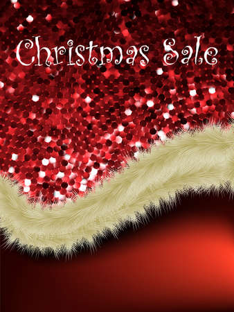 Christmas sale card templates.  Vector