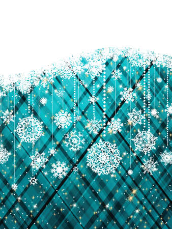 Blue abstract christmas background with snowflake.  Stock Vector - 10645544