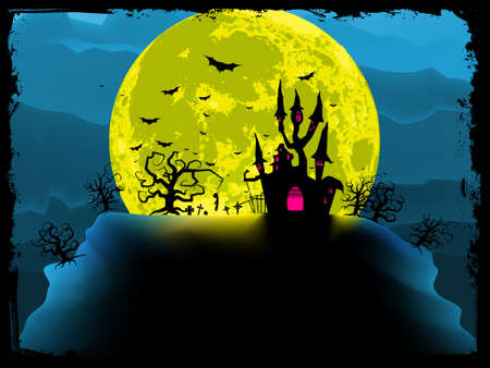 Spooky halloween background. EPS 8 vector file included Vector