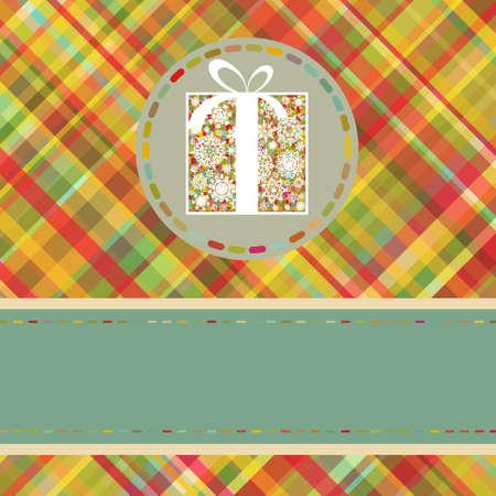 Christmas tartan background. Vector