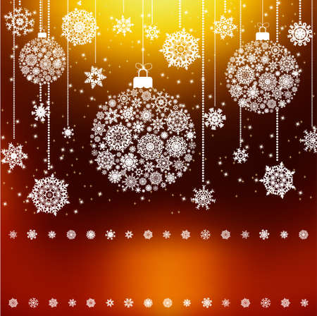Stylized Christmas Balls, Background. Illustration