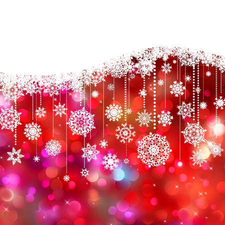 beautify: Christmas card decoration on lights background. EPS 8 vector file included