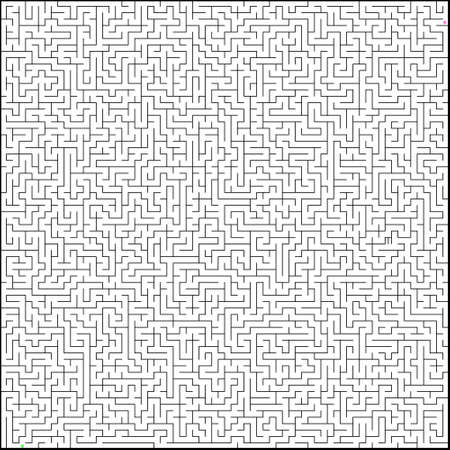 Vector illustration of perfect maze.   Vector