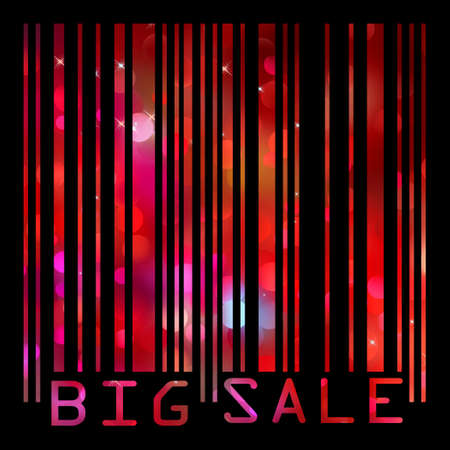 Colorful big sale bar code. EPS 8 vector file included Vector