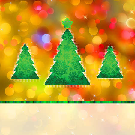 Colorful Christmas background and defocused lights. EPS 8 vector file included Stock Vector - 10755532