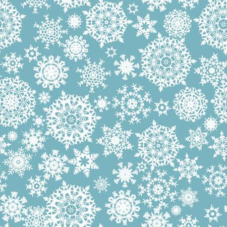 Naadloze kaart met gestileerde Kerstmis sneeuwvlokken.