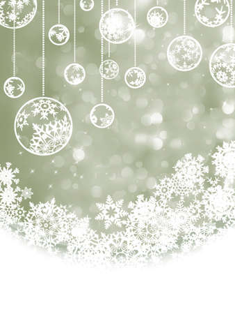 Christmas background with copyspace. All elements on separate layers.  Vector