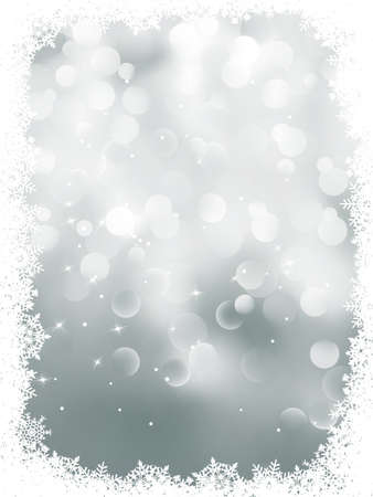 Elegant snowflakes winter background. Stock Vector - 10849081