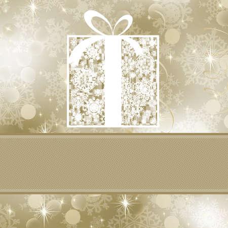 Elegance gift box.  Illustration