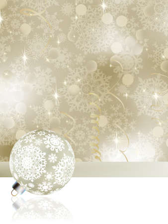 Elegant christmas background with baubles. Stock Vector - 10900265