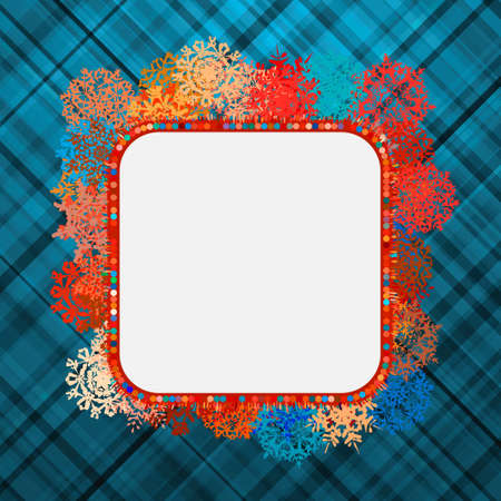 Template frame design for xmas card.  Vector