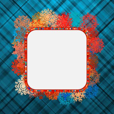 Template frame design for xmas card.  Vector