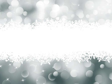 Abstract Winter background. Christmas abstract bokeh card.   Stock Vector - 10900283