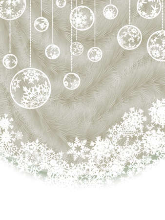 silver picture frame: Elegant new year and Christmas card template.
