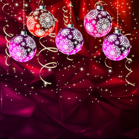 suggestive: Merry Christmas Elegant Suggestive Background for Greetings Card.