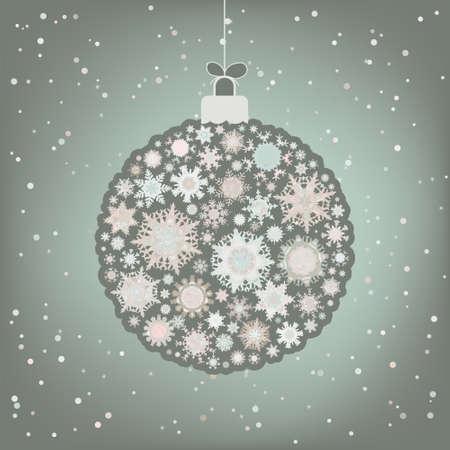 Beautiful Christmas ball illustration.  Vector