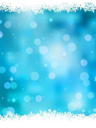 Christmas background with glitter white snowflakes.  Vector