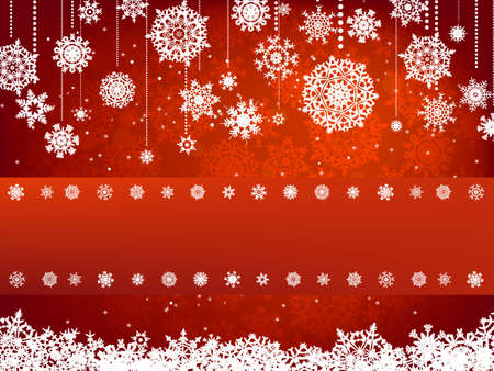 red snowflake background: Christmas background. All elements on separate layers.