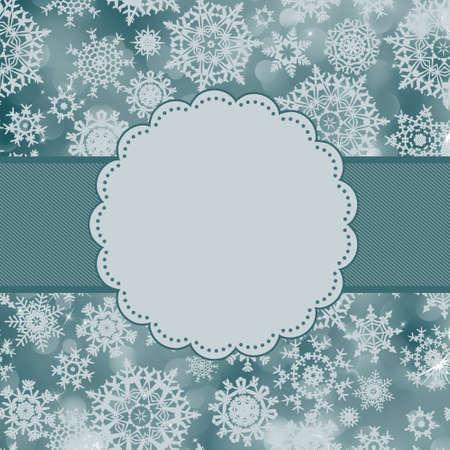 blue bow: Cute color christmas card.