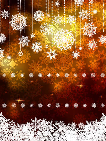 Gold shiny Christmas background.  Vector