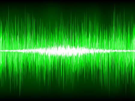 Les ondes sonores oscillant sur fond noir.