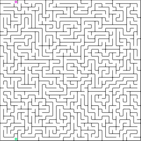 challenges: Vector illustration of perfect maze.