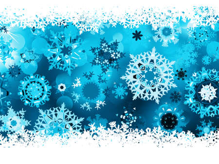 Blue background with snowflakes. EPS 8 vector file included  Vector