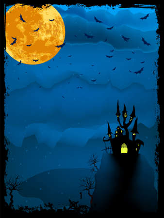 eps 8: Halloween time spooky illustration with place for text. EPS 8 vector file included