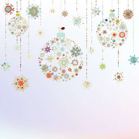 Stylized Christmas Balls, On beige Background. EPS 8 vector file included photo