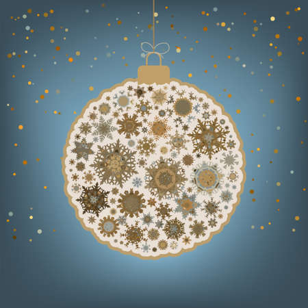 �hristmas background with christmas ball. EPS 8 vector file included Vector