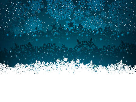 snow falling: Winter background with many different falling stylish snowflakes.  Illustration
