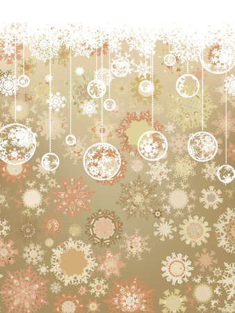 christmas wrapping paper: Vintage Christmas card.  Illustration