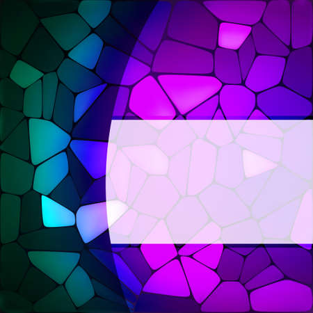Stained glass design template.  Vector