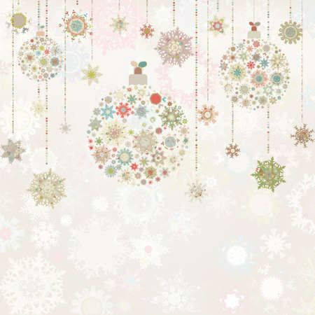 Beige background with christmas balls. photo