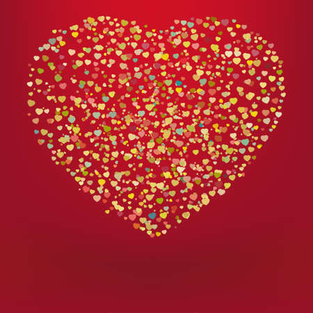 Beautiful colorful heart shape background. EPS 8 vector file included Vector