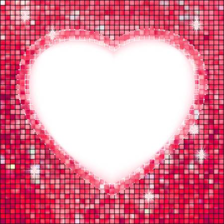 Pink frame in the shape of heart. EPS 8 vector file included  Vector