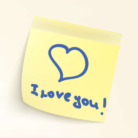 I love you paper note. EPS 8 vector file included Vector