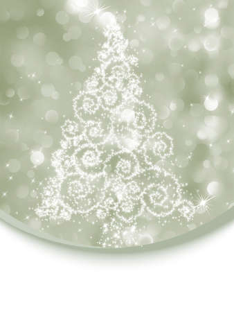 Christmas tree illustration on bokeh background. EPS 8 vector file included Stock Vector - 11474826