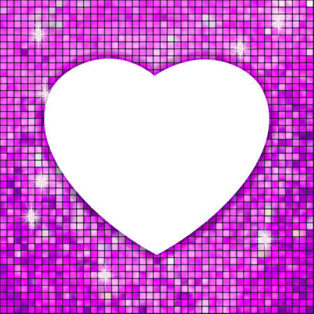 Purple frame in the shape of heart. EPS 8 vector file included  Vector