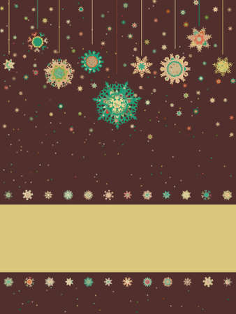 Christmas card with snowflakes. EPS 8 vector file included Vector