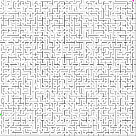 illustration of perfect maze. Vector