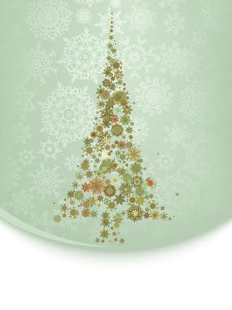 Beautiful Christmas tree illustration Vector