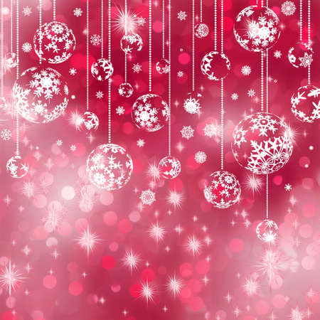 Elegant red christmas background. Vector