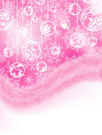 cristmas card: Cute pink new year and cristmas card template.