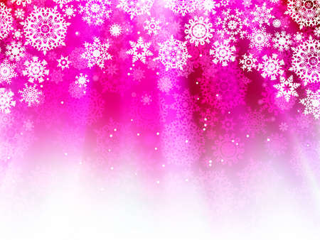 Purple wave background with snowflakes. Stock Vector - 11585314