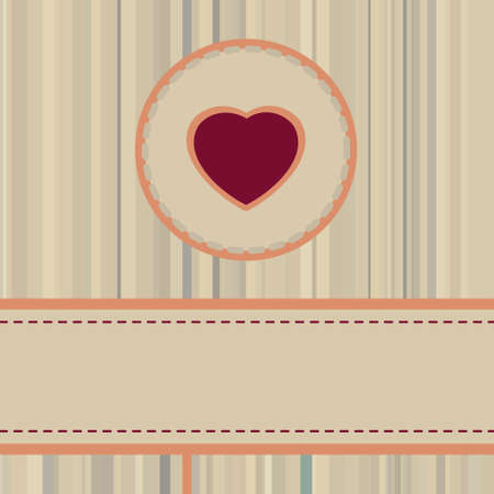 Vintage valentine Card or package design. Vector