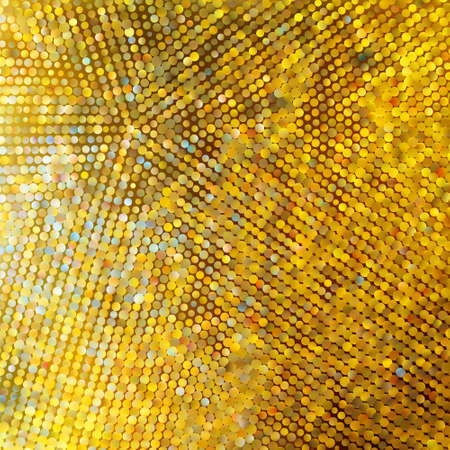 glitters: Golden mosaic. Abstract background.