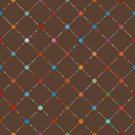 Dot template of vintage background. Vector