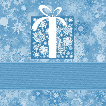 Christmas card template (Without transparency). Vector