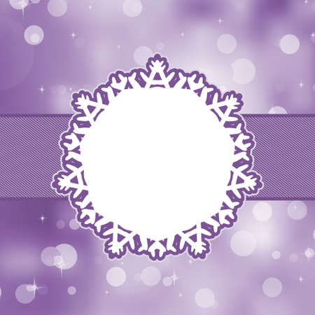purple ribbon: Christmas background with copyspace. Illustration
